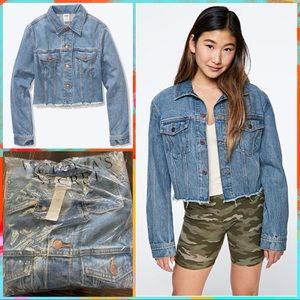 NWT Cropped Denim Jacket by PINK
